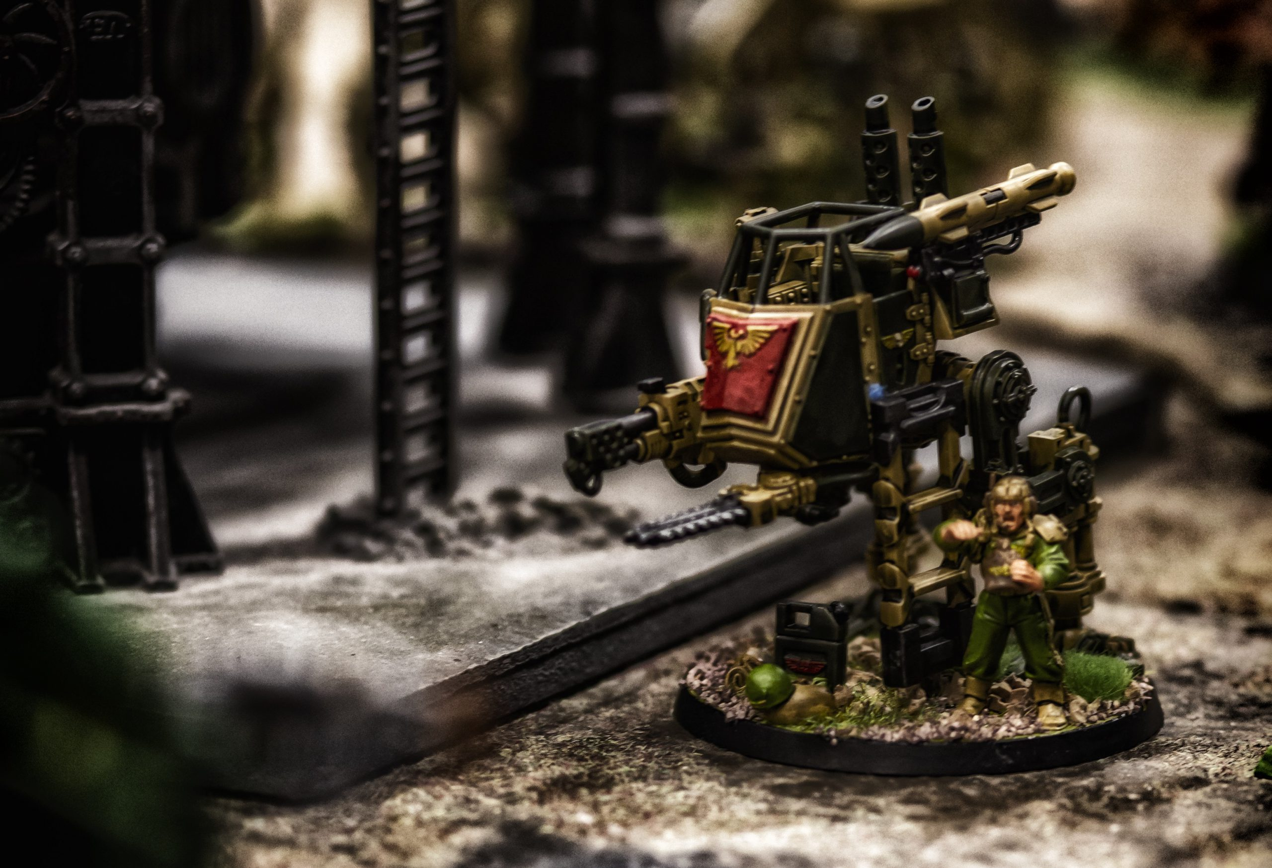 An Imperial sentinel pilot steps out of his machine